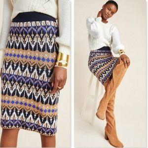 Anthropologie Saoirse Midi Sweater Skirt Size XL